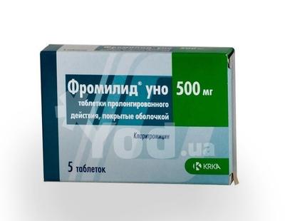 Фромилид: инструкция по применению уно 500 и 250 мг, цена, отзывы.