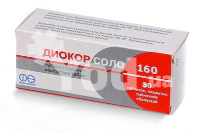Диокор соло 160 мг №30 таблетки: цена, инструкция, отзывы, купить.